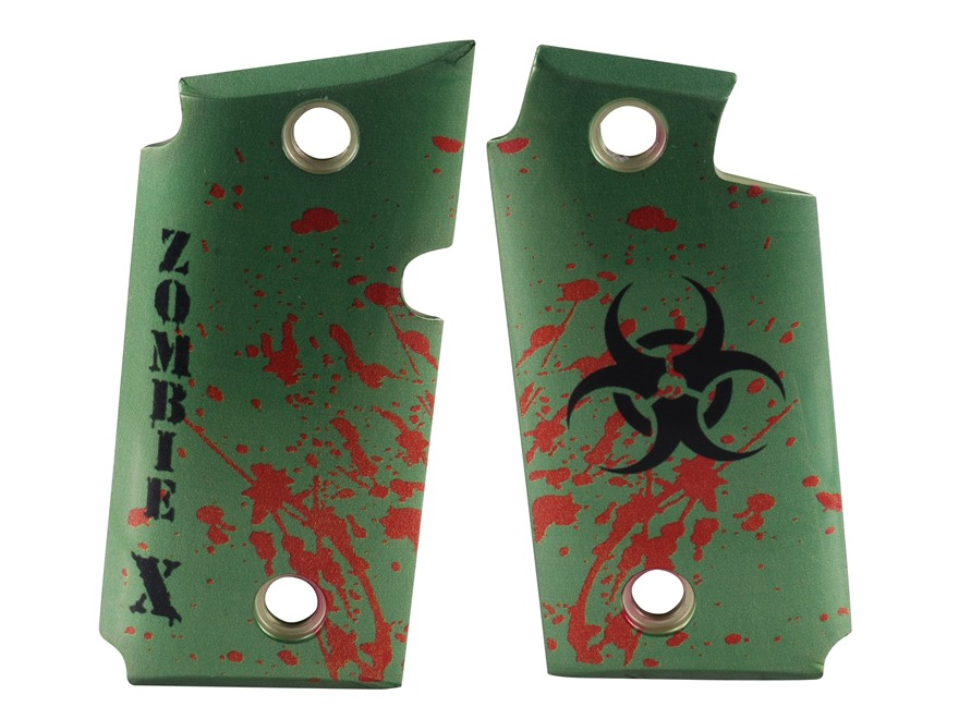 Hogue Grips Sig Sauer P238 Gloss Aluminum Zombie Green