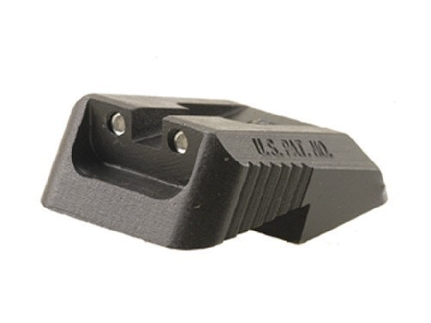 Kensight Defensive Rear Night Sight 1911 Novak LoMount Cut Steel Black Recessed Blade with Green Tritium Dots