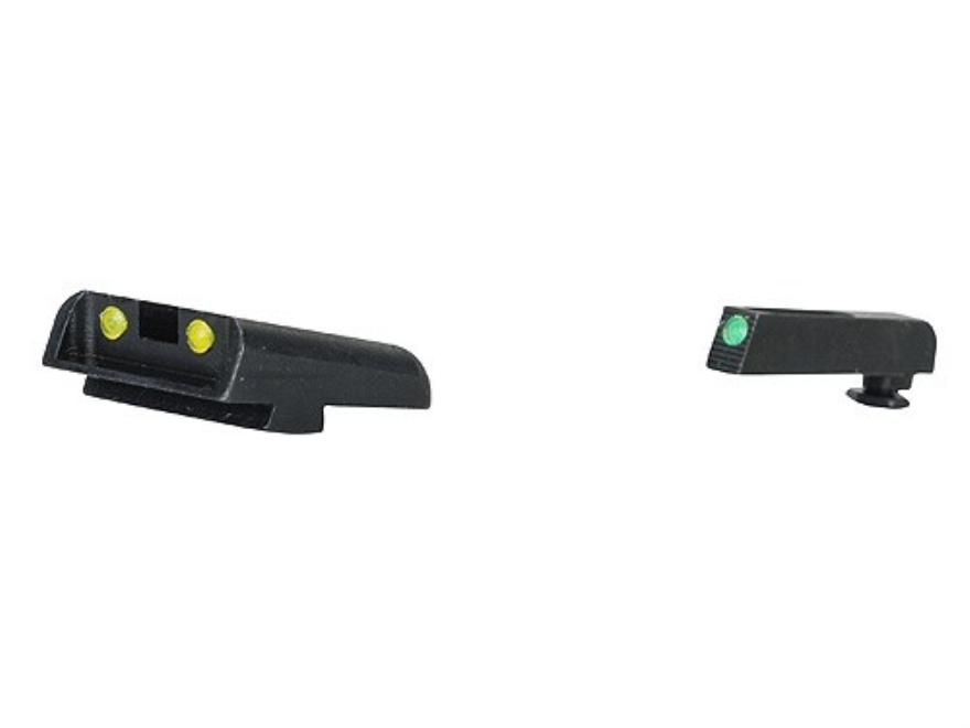 TRUGLO TFO Sight Set Glock 20, 21, 29, 30, 31, 32, 37, 41 Steel Tritium / Fiber Optic