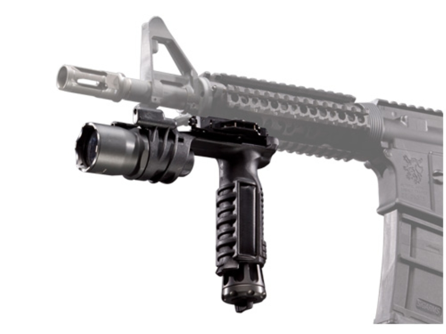Surefire M900A Vertical Foregrip Light Xenon with Blue LED Bulbs and A.R.M.S. Lever Mount Aluminum and Composite Gray Hard Anodized