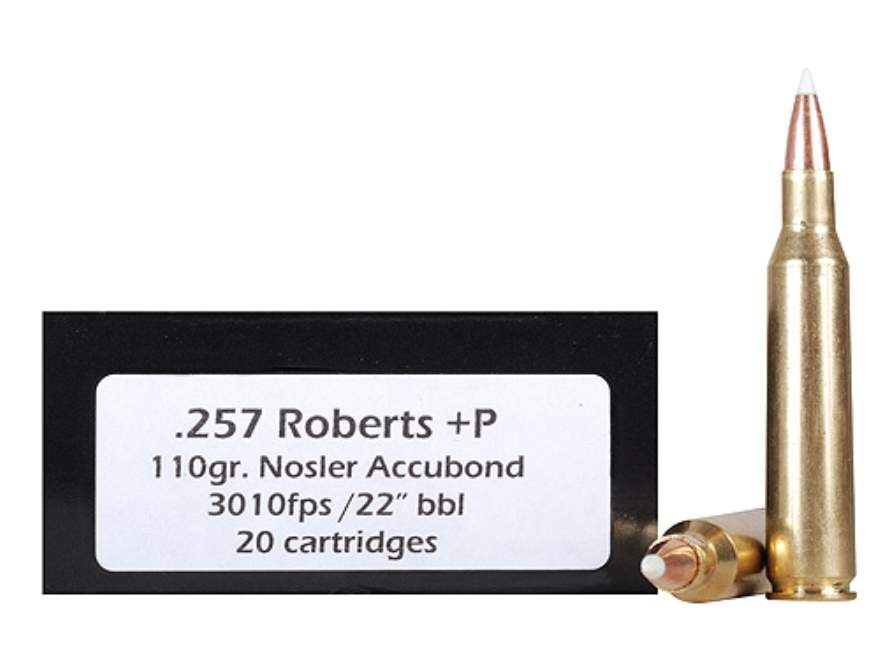 Doubletap Ammunition 257 Roberts +P 110 Grain Nosler AccuBond Spitzer Box of 20