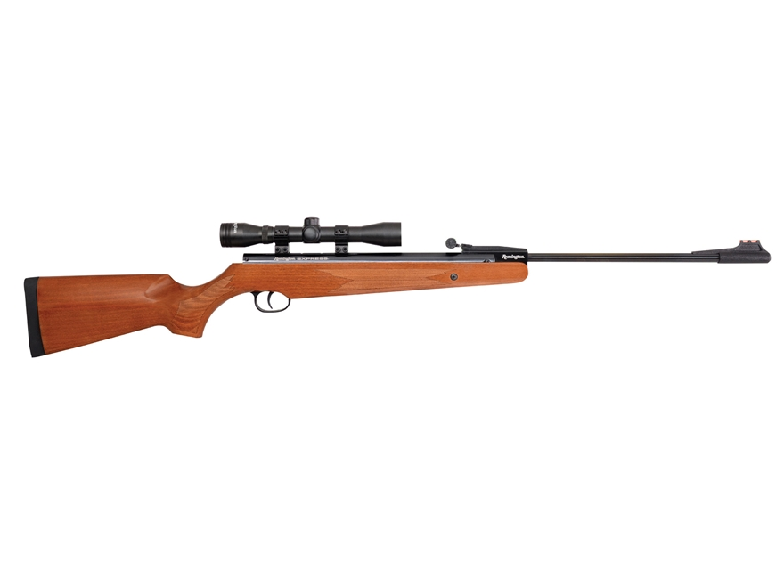Remington Express Air Rifle 177 Caliber Pellet Wood Stock Black Barrel with 4x32mm Scope
