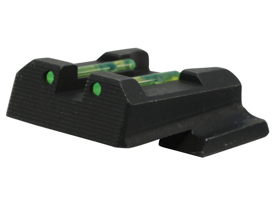 HIVIZ Rear Sight S&W M&P Shield Steel Fiber Optic Green