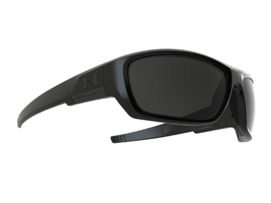 Under Armour Prevail Subdued Logo Sunglasses Polymer Black Frame Gray Multiflection Lenses