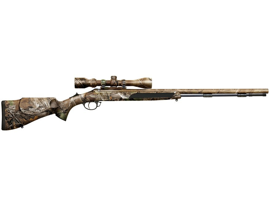 "Traditions Vortek StrikerFire Muzzeloading Rifle with 3-9 X 40mm Scope 50 Caliber 28"" Cerakote Barrel Synthetic Stock Realtree Xtra Camo"