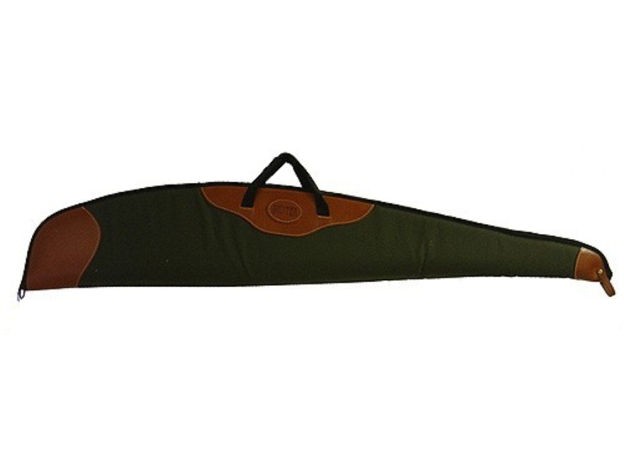 Hunter Scoped Rifle Gun Case Canvas with Leather Trim