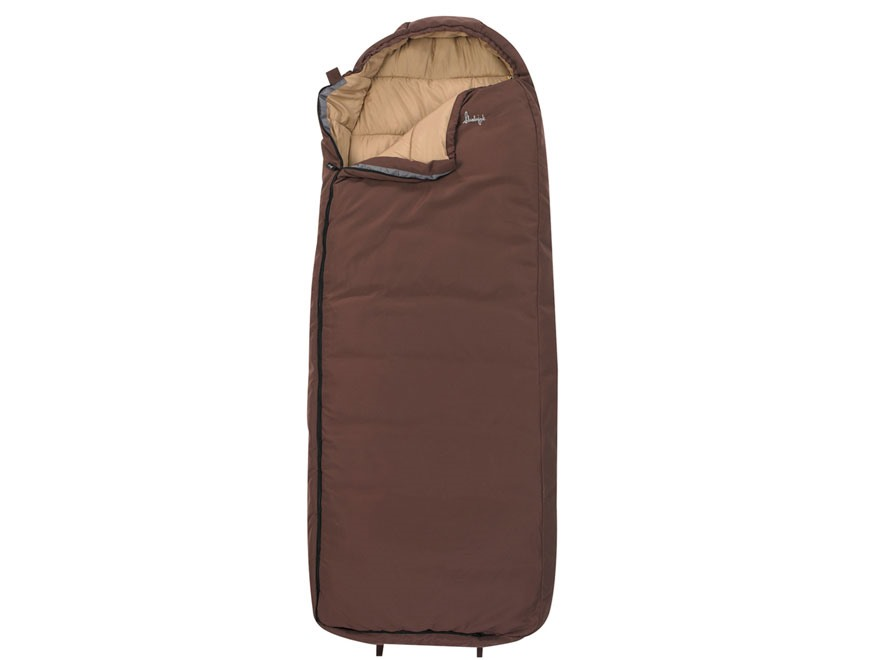 Slumberjack Log Cabin 40 Degree Long Mummy Sleeping Bag Polyester Olive