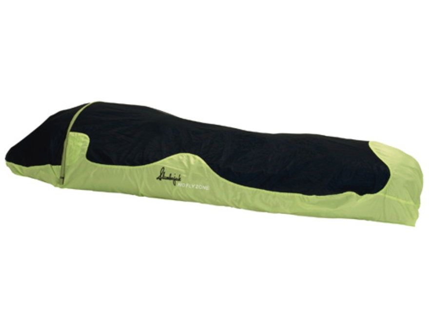 "Slumberjack No Fly Zone Bivy Sleeping Bag 34"" x 84"" Polyester and No-See-Um Mesh Green and Black"