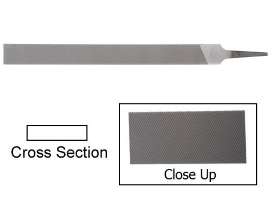 "Nicholson 10"" Second Cut Flat Hand File"