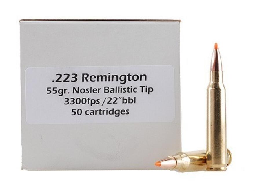 Doubletap Ammunition 223 Remington 55 Grain Nosler Ballistic Tip Box of 50