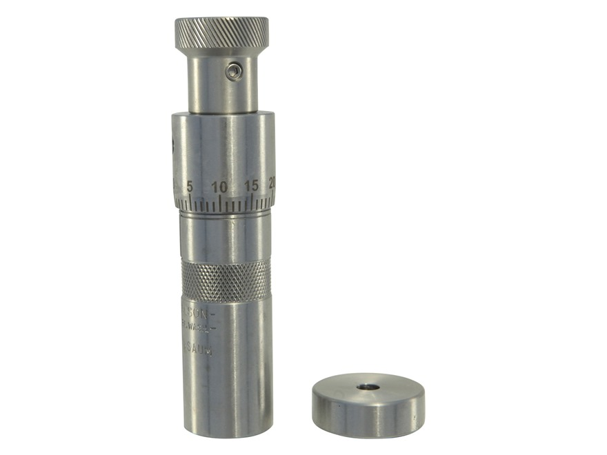L.E. Wilson Stainless Steel Chamber Type Micrometer Seater Die 7mm Remington Short Action Ultra Magnum (RSAUM)