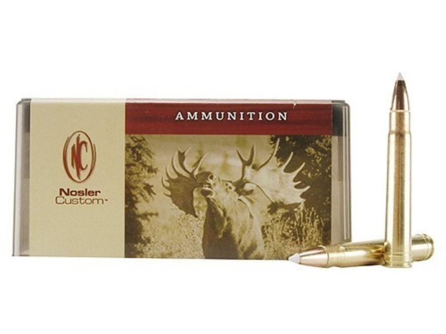 Nosler Custom Ammunition 375 H&H Magnum 260 Grain AccuBond Spitzer Box of 20
