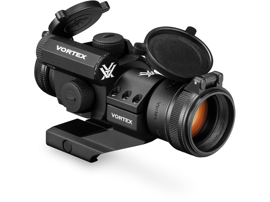 Vortex Optics StrikeFire II Red Dot Sight 30mm Tube 1x 4 MOA Bright Dot with Cantilever Extra-High Picatinny-Style Ring Mount Matte