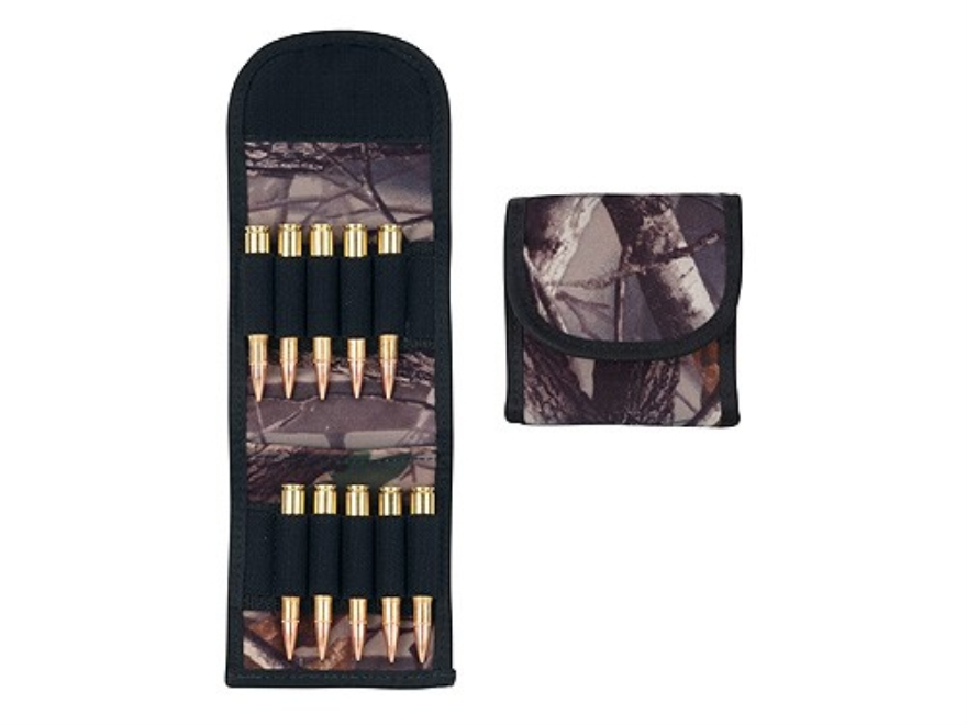 Crooked Horn Belt Slide Folding Rifle Ammunition Carrier 10-Round BuckSuede Realtree AP Camo