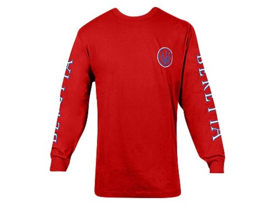 Beretta Double Logo T-Shirt Long Sleeve Cotton