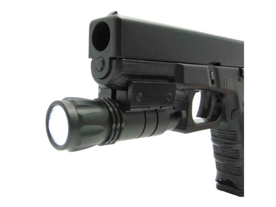 NcStar LED Flashlight with Battery Weaver-Style Mount Aluminum Black