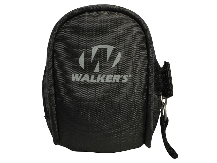 Walker's Game Ear Electronic Ear Plug Field Carrying Pouch Black