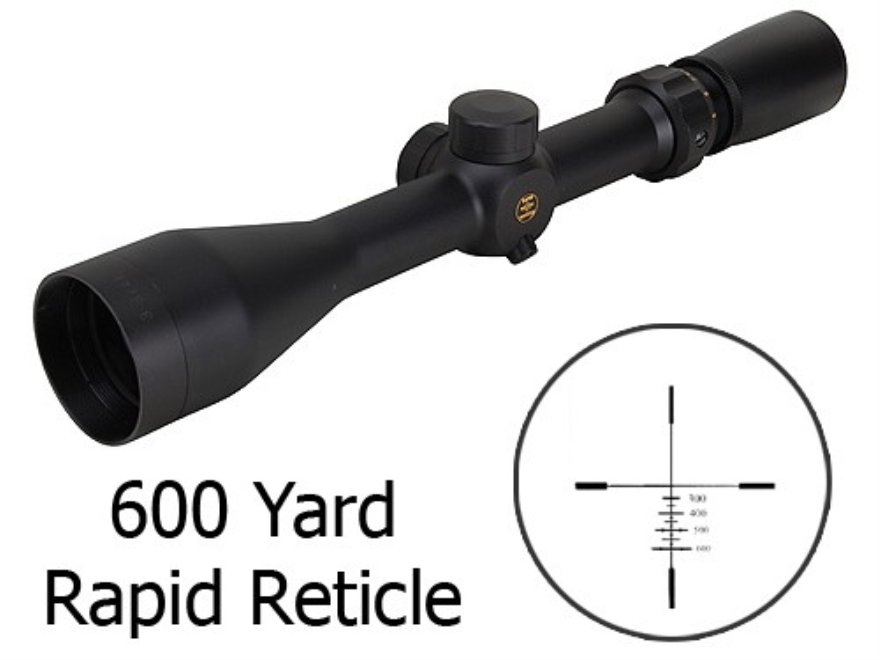Pride Fowler Rapid Reticle Special Ops Rifle Scope 3-9x 42mm First Focal 600 Yard Rapid Reticle Matte