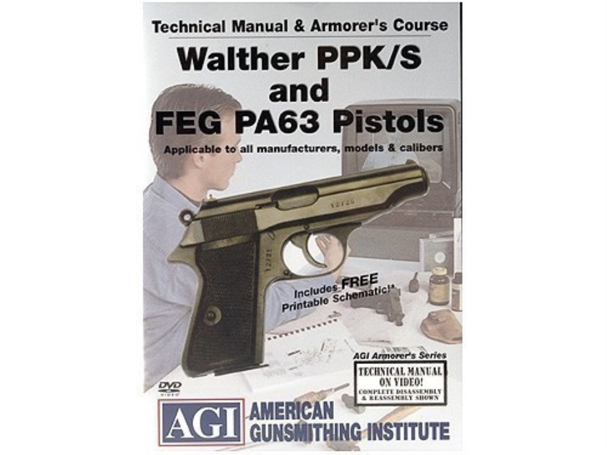 """American Gunsmithing Institute (AGI) Technical Manual & Armorer's Course Video """"Walther..."""
