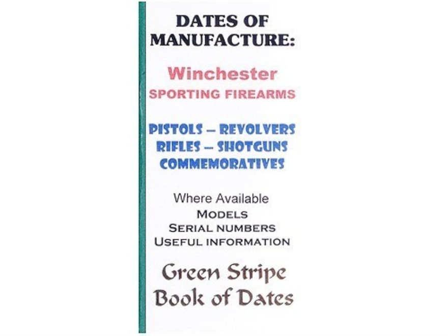"Green Stripe Data Books ""Winchester"" Book by Firing Pin Enterprises"