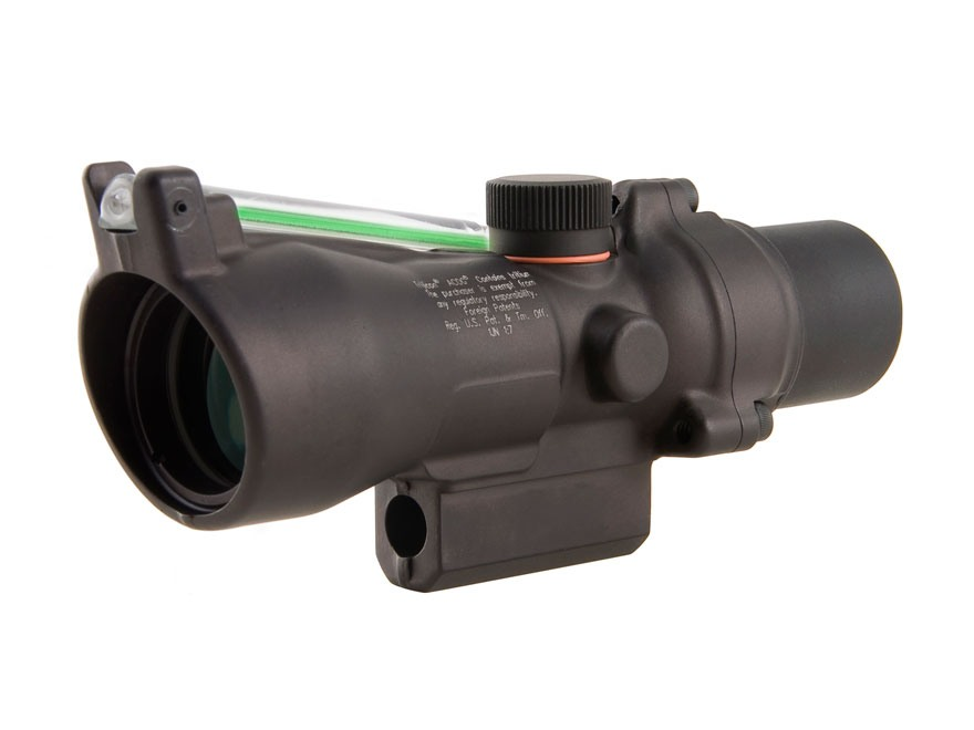Trijicon ACOG TA50G-XB Crossbow Scope 3x 24mm Dual-Illuminated Green Chevron 340-400 FPS Range Finding Reticle Matte