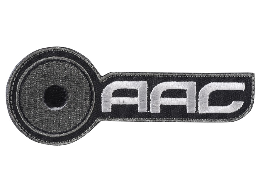 Advanced Armament Co (AAC) Horizontal Logo Patch Hook-&-Loop Fastener Black & Gray