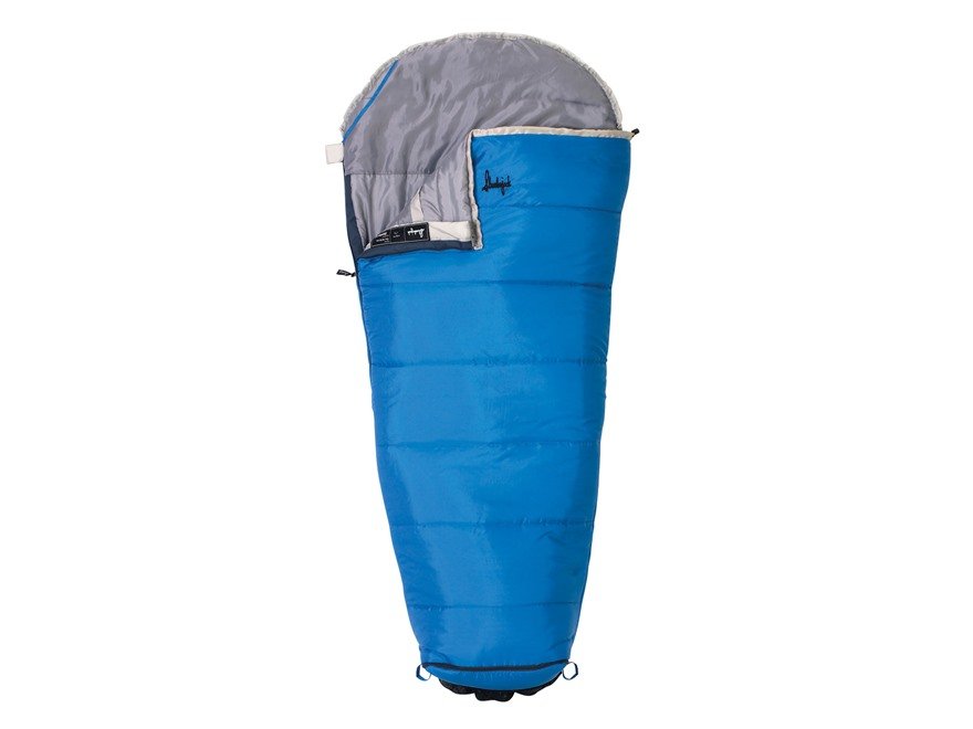 Slumberjack Go-N-Grow Boys 30 Degree Sleeping Bag Polyester Blue and White