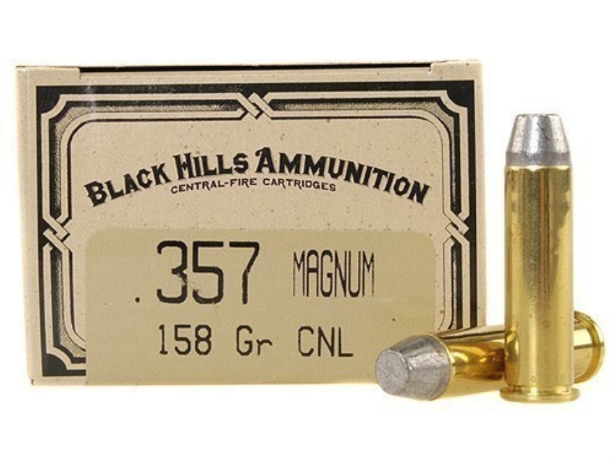Black Hills Cowboy Action Ammunition 357 Magnum 158 Grain Lead Conical Nose Box of 50