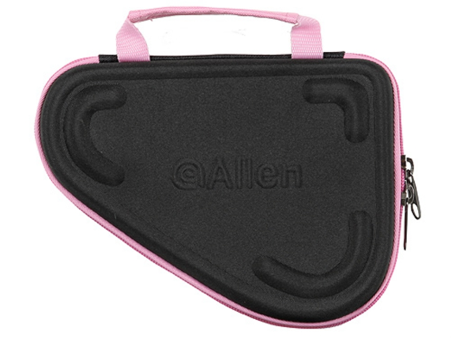 "Allen Molded Compact Pistol Case 8-1/2"" Black and Pink"