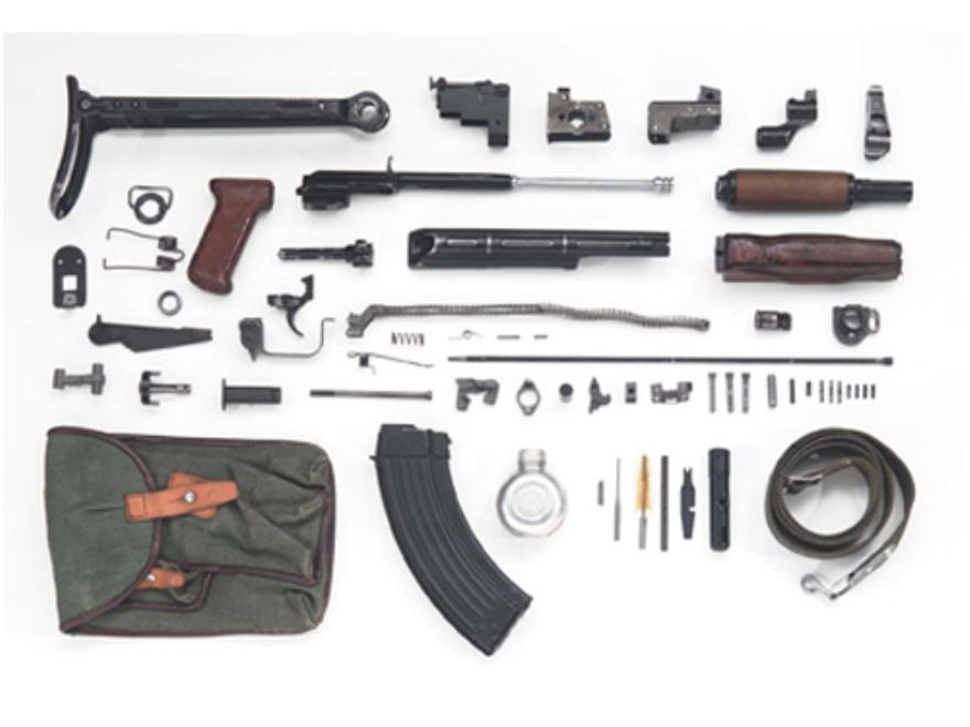 Military Surplus AK-47 Polish Under Folding Stock Parts Kit with 30-Round Magazine 7.62x39mm