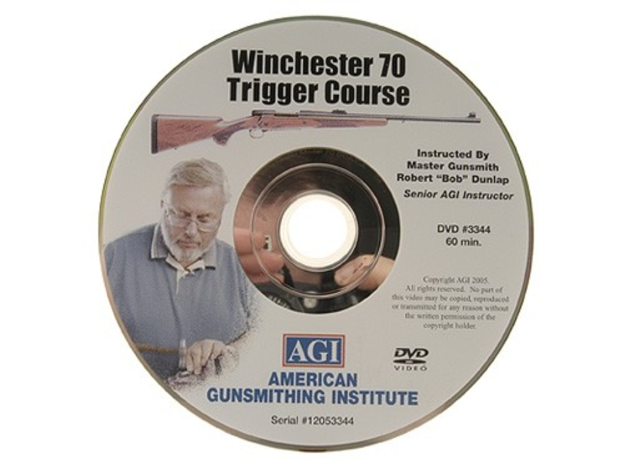 "American Gunsmithing Institute (AGI) Trigger Job Video ""Model 70 Winchester Rifle"" DVD"