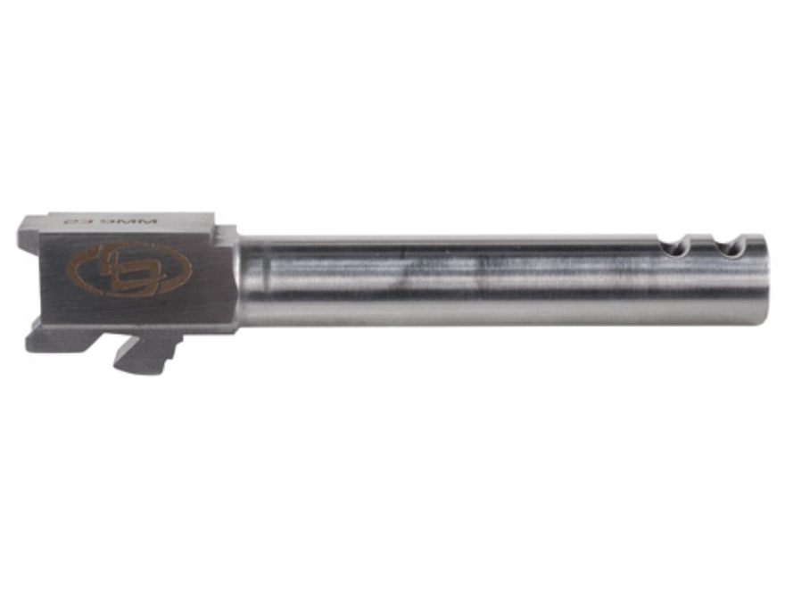 "Storm Lake Barrel Glock 23 40 S&W to 9mm Luger Conversion 1 in 16"" Twist 4.72"" Stainless Steel with 2-Ports"