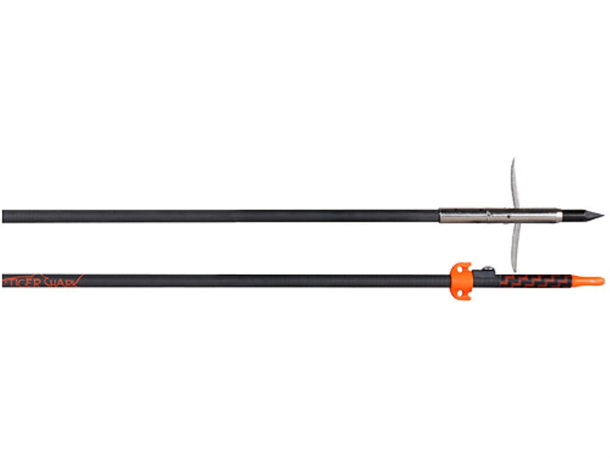 AMS Tiger Shark Carbon Bowfishing Arrow with Sting-A-Ree Tournament Point and Safety Slide