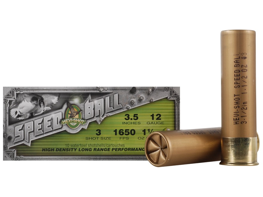 "Hevi-Shot Speedball Waterfowl Ammunition 12 Gauge 3-1/2"" 1-1/2 oz #3 Non-Toxic Shot"