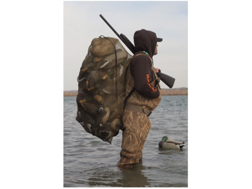 GHG Standard Duck Decoy Bag Holds 30 Decoys Mesh Dark Moss Green