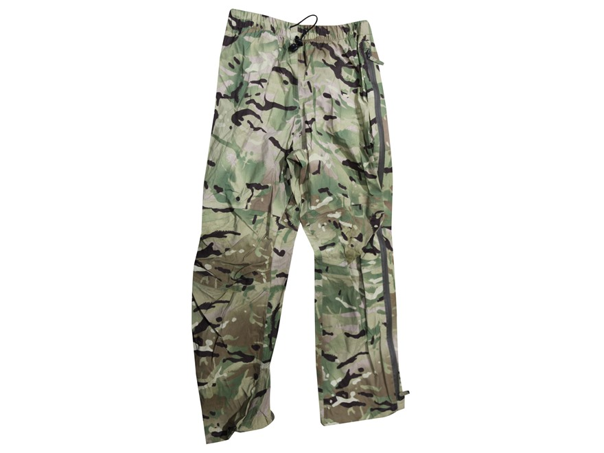Military Surplus British Lightweight Waterproof Pants Multi-Terrain Pattern Camo L