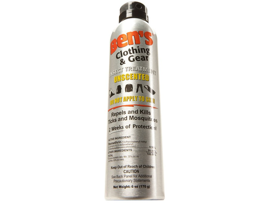 Ben's Clothing & Gear Insect Repellent 0.5% Permethrin Spray 6 oz