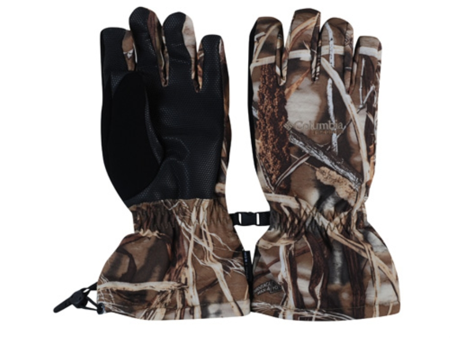 Columbia Sportswear Men's Horicon Marsh Insulated Waterproof Gloves Synthetic Blend Realtree Max-4 Camo Medium 9-91/2