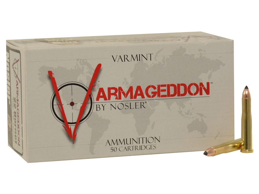 Nosler Varmageddon Ammunition 22 Hornet 35 Grain Tipped Flat Base Box of 50