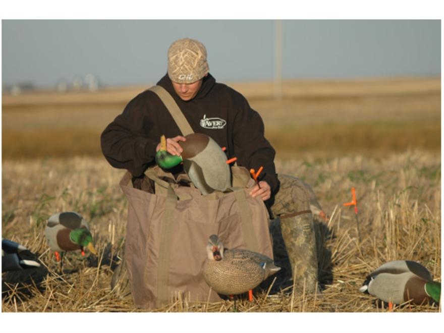 Avery Full Body Duck Decoy Bag 6 Slot Nylon Field Khaki