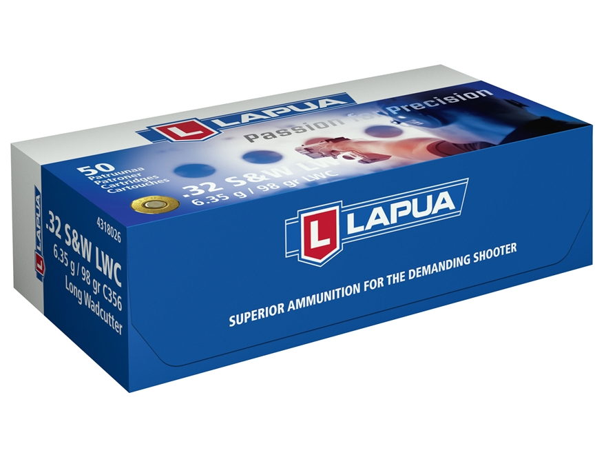 Lapua Ammunition 32 S&W Long 98 Grain Lead Wadcutter Box of 50