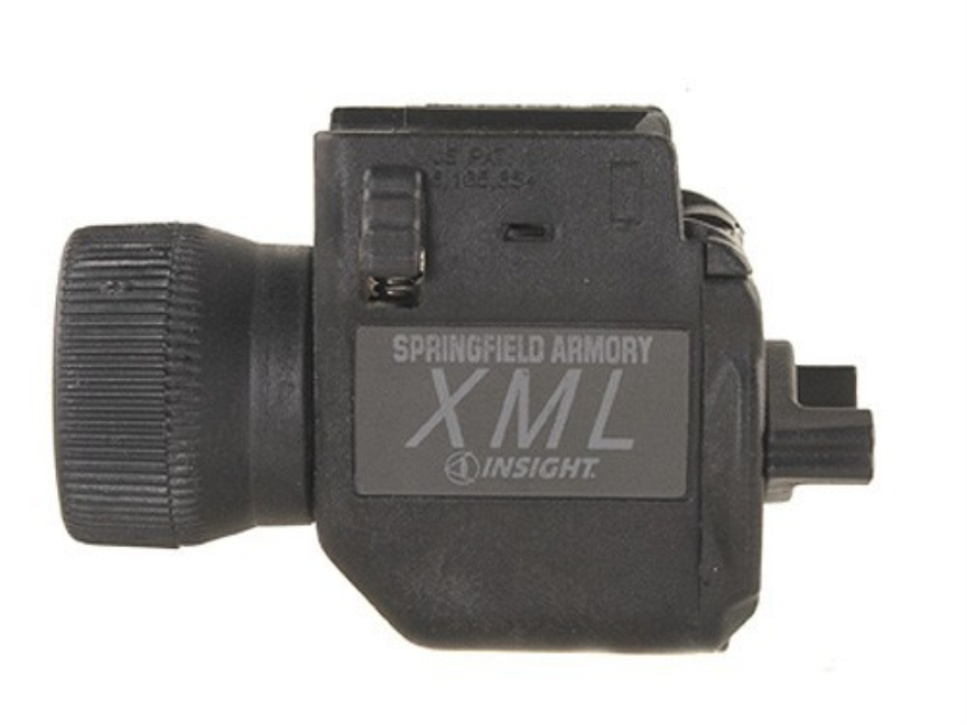 Springfield Armory XML X-Treme Mini Flashlight Xenon Bulb with Battery (CR2 Lithium) Fits Picatinny Rails Polymer Black