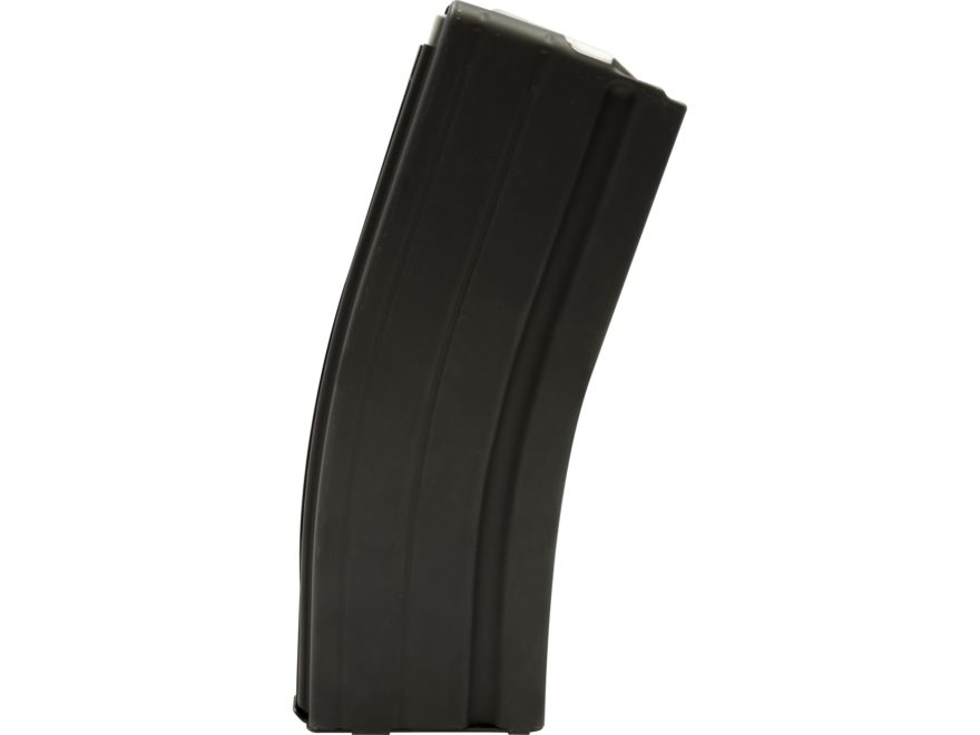 AR-Stoner Magazine AR-15 6.8mm Remington SPC 25-Round with Anti Tilt Follower Stainless Steel Black
