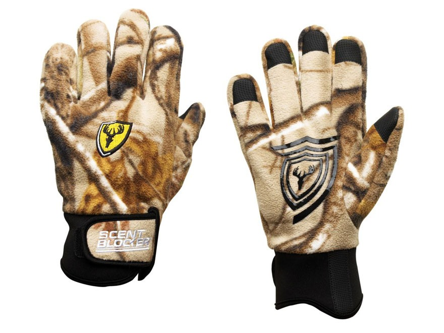 ScentBlocker Pro Grip Fleece Scent Control Gloves Polyester Realtree Xtra Camo Medium/Large
