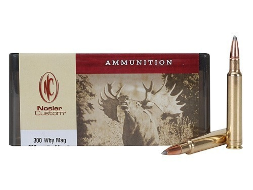 Nosler Custom Ammunition 300 Weatherby Magnum 200 Grain Partition Spitzer Box of 20