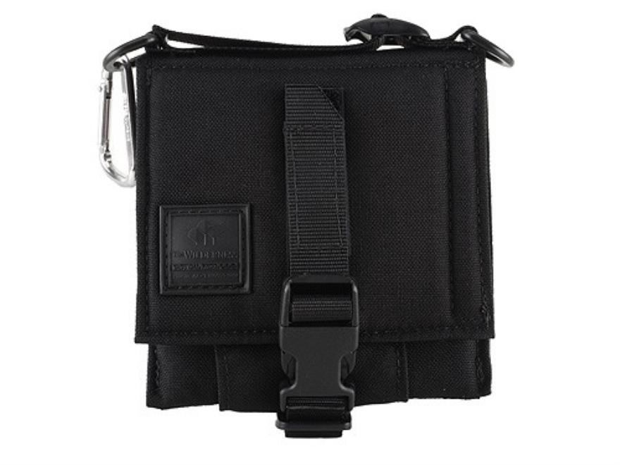 """Wilderness Tactical Safepacker Belt Holster Right Hand 7.375"""" x 8.25"""" Nylon Black"""