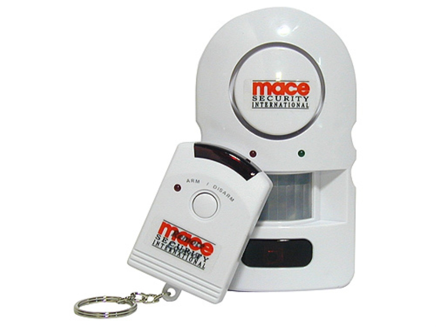 Mace Brand PIR Alarm with Remote Home Security 105 Decibel alarm requires 4 AAA batteries not included White