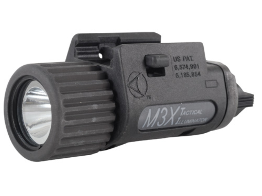 Insight Tech Gear M3X Tactical Illuminator Flashlight LED   1913 Picatinny Rail Fit Polymer Black