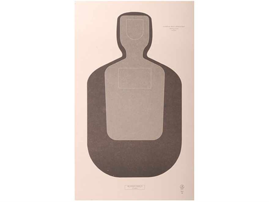 "NRA Official Training and Qualification Targets Law Enforcement TQ-20 12"" x 20"" Paper Package of 100"