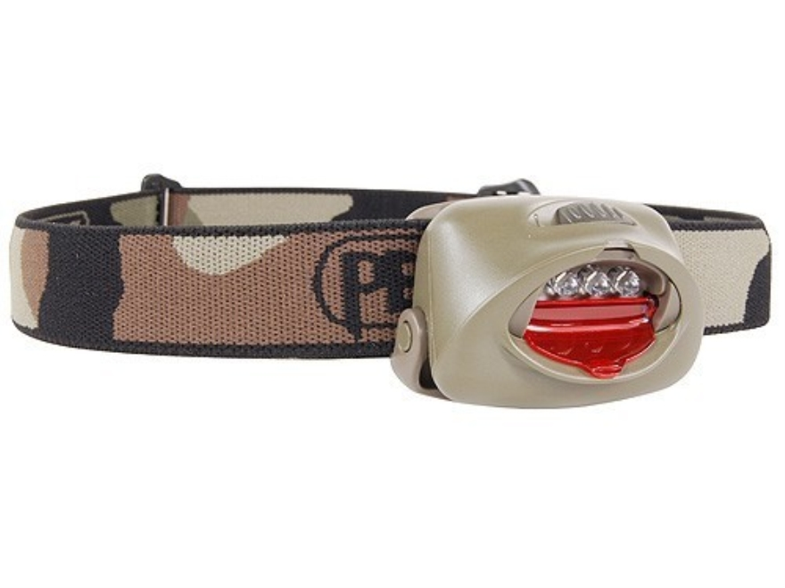 Petzl TacTikka Headlamp 3 White LEDs with Batteries (3 AAA Alkaline) Polymer Forest Camo